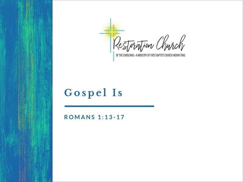 Gospel Is Image