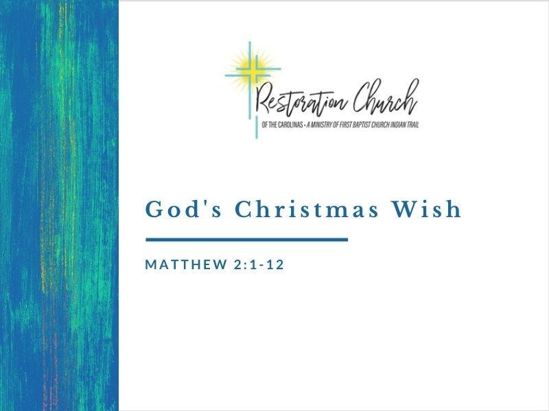 God's Christmas Wish Image