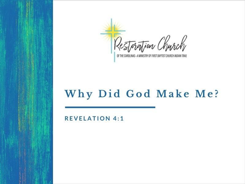 Why Did God Make Me? Image
