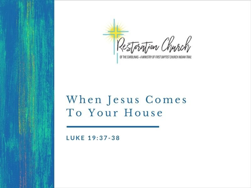 When Jesus Comes To Your House Image