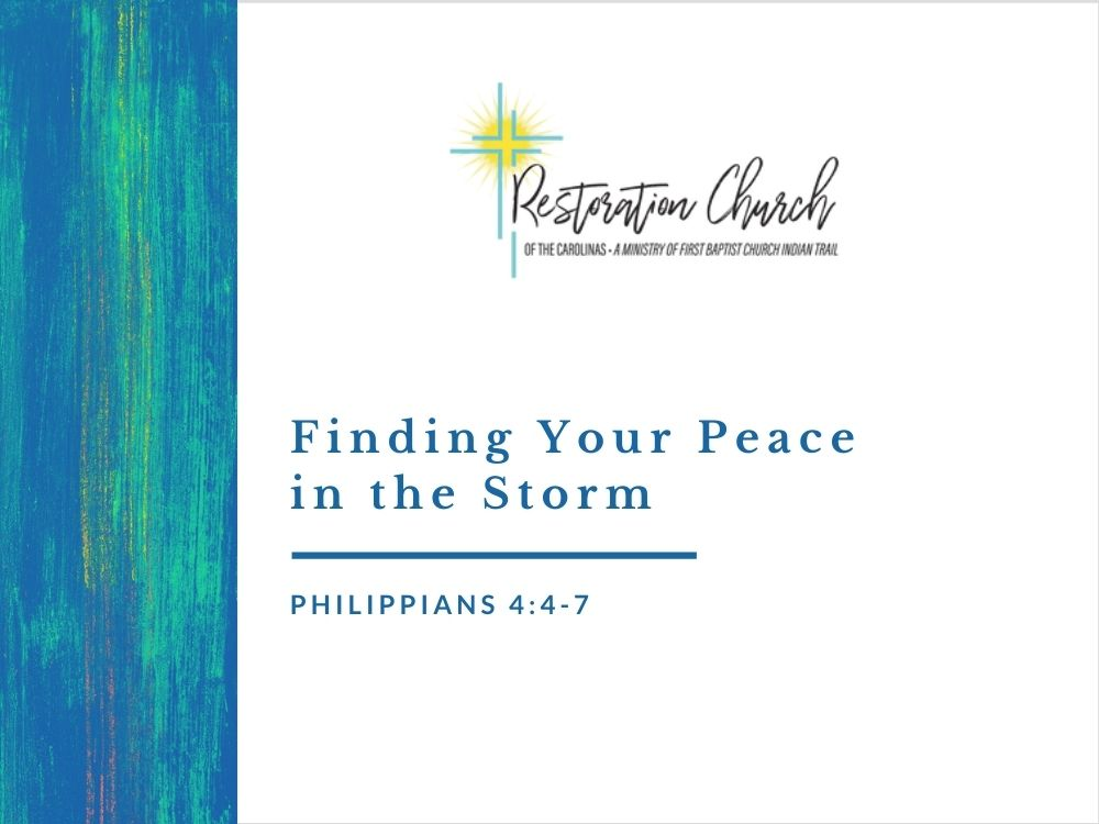 Finding Your Peace in the Storm Image