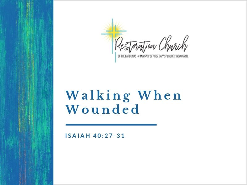 Walking When Wounded Image