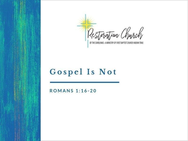 Gospel Is Not Image