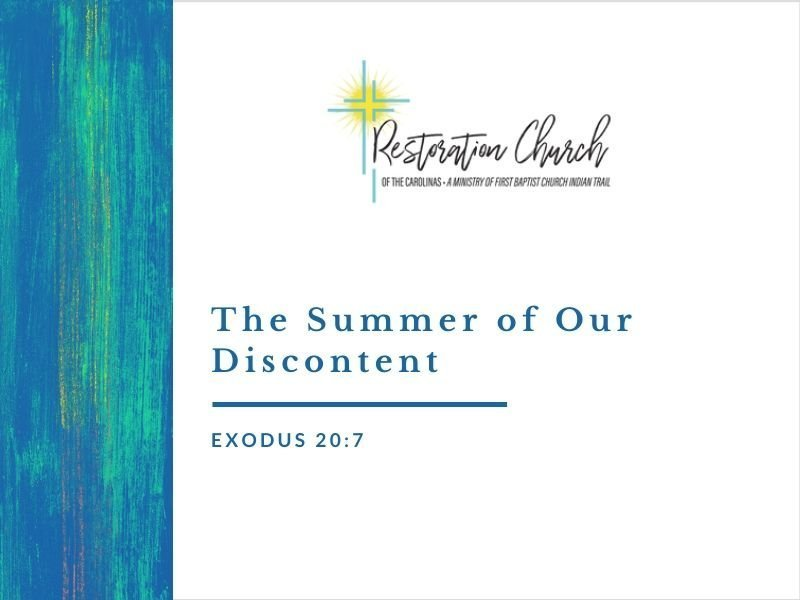The Summer of Our Discontent Image