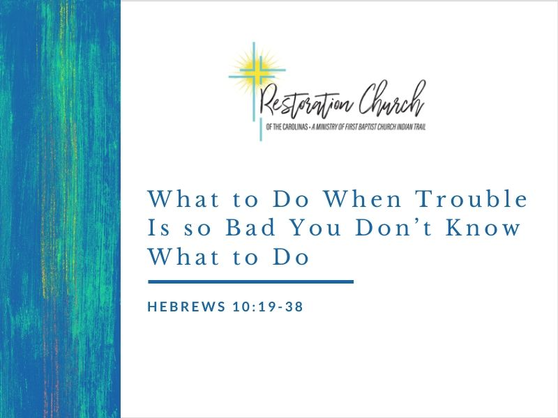 What to Do When Trouble Is so Bad You Don't Know What to Do Image