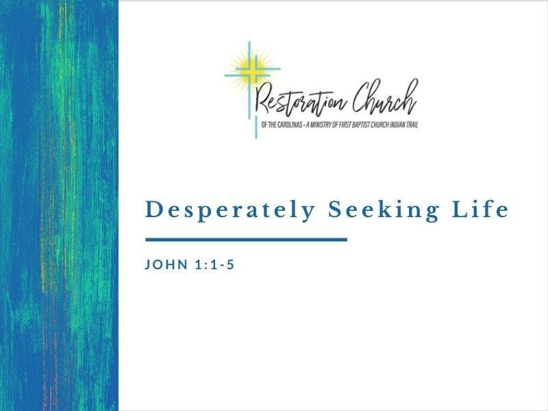 Desperately Seeking Life Image