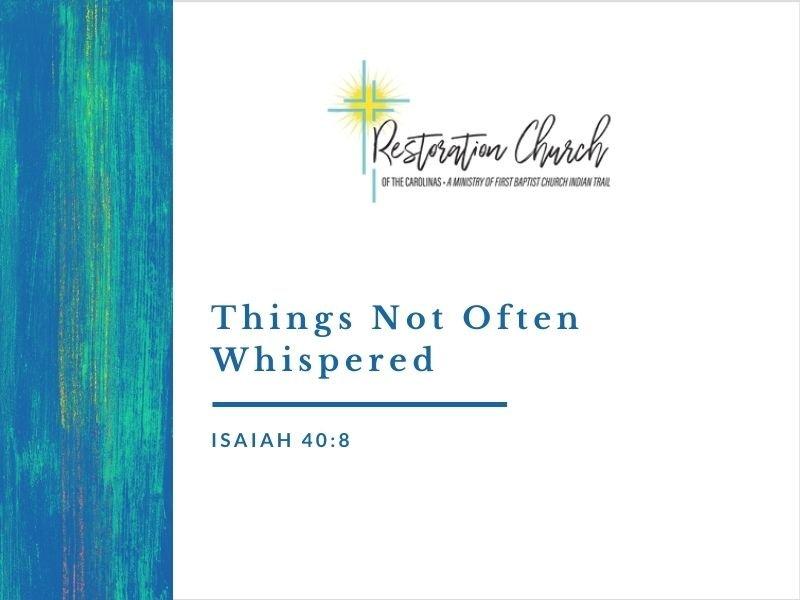 Things Not Often Whispered Image